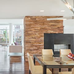 High Line Penthouse, New York, NY:  Dining room by BILLINKOFF ARCHITECTURE PLLC