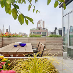 High Line Penthouse, New York, NY:  Patios & Decks by BILLINKOFF ARCHITECTURE PLLC, Minimalist