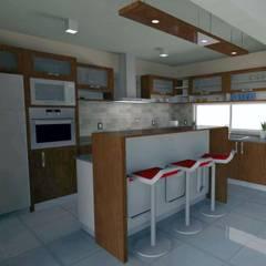 Diseño Cocina- Vivienda SM: Cocinas de estilo moderno por Estudio Punto y Linea