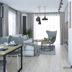 SKANDYNAWSKI SALON: styl , w kategorii Salon zaprojektowany przez MIKOŁAJSKAstudio