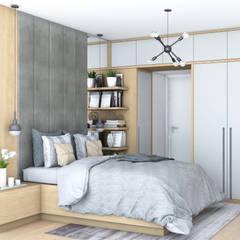WYGODNA SYPIALNIA : styl , w kategorii Sypialnia zaprojektowany przez MIKOŁAJSKAstudio
