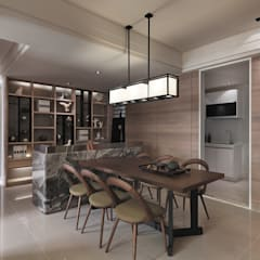 [HOME] Ciid Design - Haihua Model House: KD Panels의  다이닝 룸