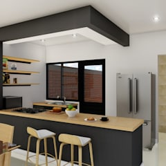 Built-in kitchens by IAD Arqutiectura,