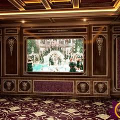 Home Cinema Design by Katrina Antonovich:  Media room by Luxury Antonovich Design