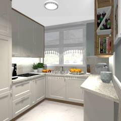 mieszkanie w bloku: styl , w kategorii Kuchnia zaprojektowany przez marta sergiej - wnętrza,