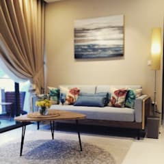 Project @ The Bently Residences Scandinavian style living room by ab1 Abode Pte Ltd Scandinavian