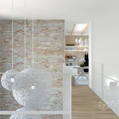 Vestidor de zona loft: Pasillos y vestíbulos de estilo  de Alberto Navarro Arquitectura Interior