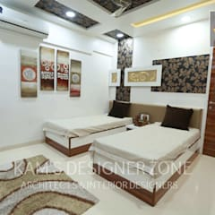 Flat Designed at Aundh of Mr. Satish Tayal:  Teen bedroom by KAM'S DESIGNER ZONE