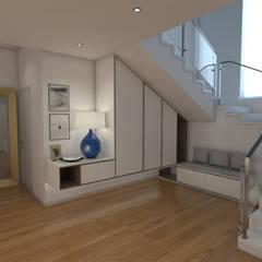 Casa CA231 Corredores, halls e escadas modernos por The Spacealist - Arquitectura e Interiores Moderno