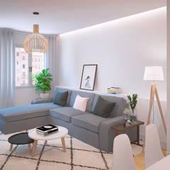Salón Ikea: Salas de estilo  por 3Deko