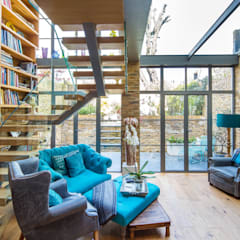 Double height crittall style extension:  Study/office by HollandGreen