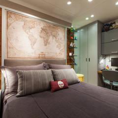 Apartamento ECB: Quartos  por Thiago Mondini Arquitetura
