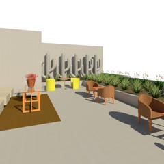 Salón de eventos: Terrazas de estilo  por Madera de Arquitecto