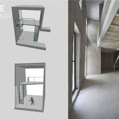 tapanco recreativo: Oficinas y tiendas de estilo  por c05 Arquitectura