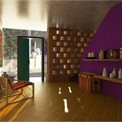 Hostal boutique : Terrazas de estilo  por c05 Arquitectura