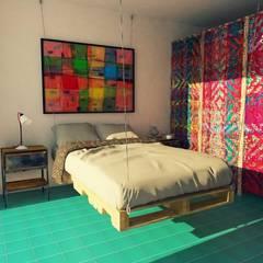 Hostal boutique : Estudios y oficinas de estilo mediterraneo por c05 Arquitectura