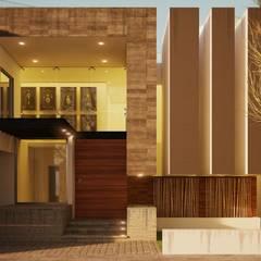 Casa Acosta: Villas de estilo  por Modulor Arquitectura