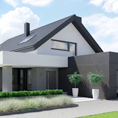 Projekt domu HomeKONCEPT 51: styl nowoczesne, w kategorii Domy zaprojektowany przez HomeKONCEPT   Projekty Domów Nowoczesnych