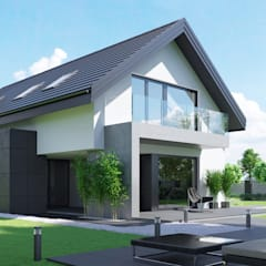 Projekt domu HomeKONCEPT 51: styl , w kategorii Domy zaprojektowany przez HomeKONCEPT | Projekty Domów Nowoczesnych