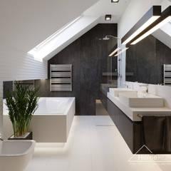 Projekt domu HomeKONCEPT 51: styl , w kategorii Łazienka zaprojektowany przez HomeKONCEPT   Projekty Domów Nowoczesnych