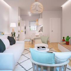 salon: Salas de estilo  por 3Deko