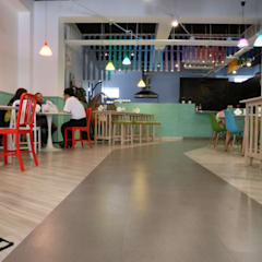 POPPY waffle 比利時烈日鬆餅:  餐廳 by DS&BA Design Inc 伊國設計