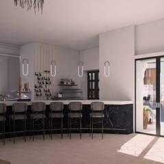 Zona barra: Espacios comerciales de estilo  de Interiorista M.