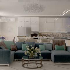 ห้องนั่งเล่น by Студия интерьерного дизайна happy.design