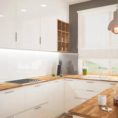 СТИЛЬНЫЙ ЧАСТНЫЙ ДОМ В СОВРЕМЕННОМ СТИЛЕ: Встроенные кухни в . Автор – дизайн-студия PandaDom