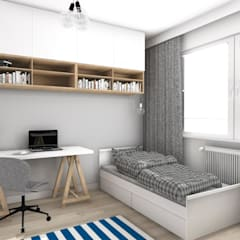 Dormitorios infantiles de estilo  por Katarzyna Piotrowiak Pure Form