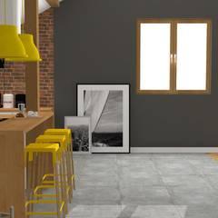 Mieszkanie na poddaszu: styl , w kategorii Jadalnia zaprojektowany przez Katarzyna Piotrowiak Pure Form