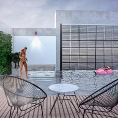 Lavalle 576  | Edificio de viviendas: Jardines en la fachada de estilo  por Etéreo Arquitectos,Moderno