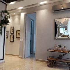 Diseño y construccion (Reforma y remodelacion) - Apto de soltero - Barranquilla: Pasillos y vestíbulos de estilo  por Savignano Design