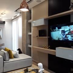 Diseño y construccion (Reforma y remodelacion) - Apto de soltero - Barranquilla: Salas de estilo  por Savignano Design