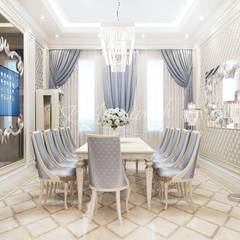   Dining room Design by Katrina Antonovich:  Dining room by Luxury Antonovich Design