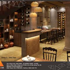 Khu vực quầy bar:  Phòng ăn by KIẾN TRÚC TÂY HỒ