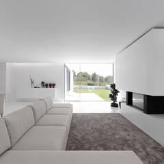 casa tapada da rainha: Salas de estar  por PSB arquitectos,Minimalista