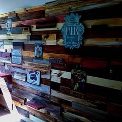 Diseño de salón de juegos, estudio y paredes: Estudios y oficinas de estilo rural por Forja Terra