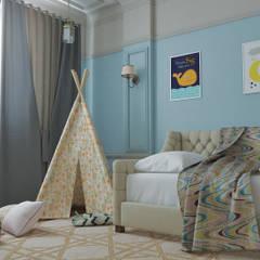 Перепланировка двушки в трёшку: комнаты для новорожденных в . Автор – Mantra_design