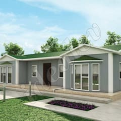 İdeal Ev – Prefabrik Ev 98 m²:  tarz Sergi Alanları