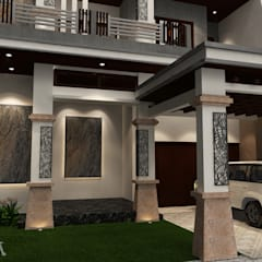 Facade:  Rumah tinggal  by AIRE INTERIOR