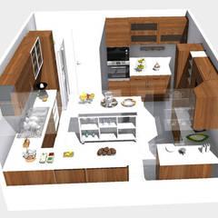 Cocina familiar: Muebles de cocinas de estilo  por TAB Muebles, Moderno