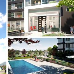 Edificio Open: Viviendas colectivas de estilo  por Rau Arquitectos