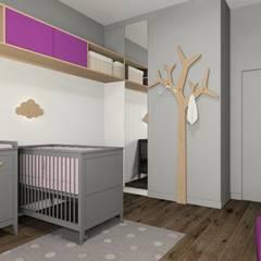 Z ukosa: styl , w kategorii Pokój dziecięcy zaprojektowany przez Fabryka Nastroju Izabela Szewc