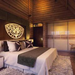 Dormitorios de estilo  por Skye Architect