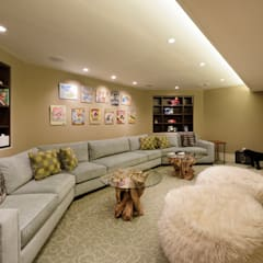 Fire Restoration in Chevy Chase Creates Opportunity for Whole House Renovation:  Media room by BOWA - Design Build Experts