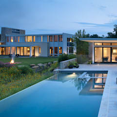 Green Building Features Abound in Bluemont, Virginia Custom Home: modern Pool by BOWA - Design Build Experts