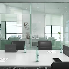 Commercial 3d interior rendering design Conference area:  Conference Centres by Yantram Architectural Design Studio