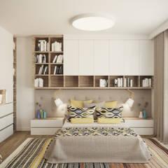 MAKALU: styl , w kategorii Sypialnia zaprojektowany przez Ludwinowska Studio Architektury