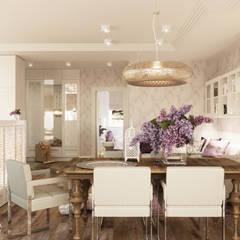 LILAC: styl , w kategorii Pokój multimedialny zaprojektowany przez Ludwinowska Studio Architektury